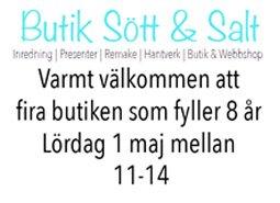 Annons Jubileum 8 år - Sött & Salt