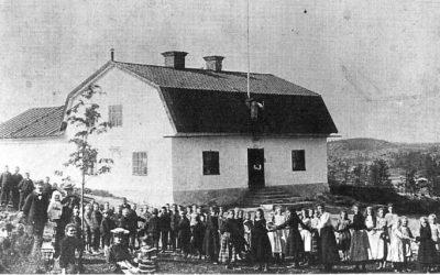 Ett gammalt fotografi – Muskö Folkskola 1906