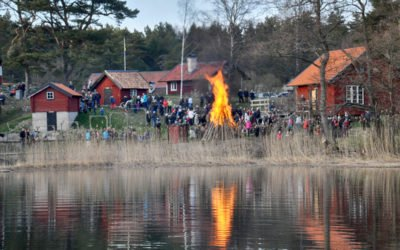 Valborg firades på  Grytholmen