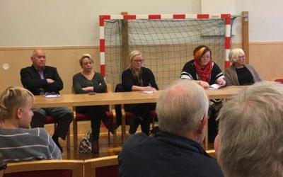 Möte med inbjudna politiker från  Haninge Kommun den 16 oktober 2016.