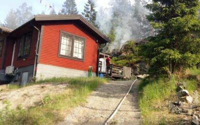 Terrängbrand vid Torpa Skog