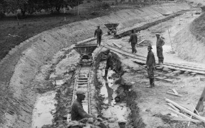 Ett gammalt fotografi – Bygget av Muskö kanal