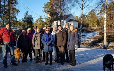 Resan har börjat i Föreningen  Muskö Hembygdsgård.