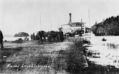 Ett gammalt fotografi – Ångbåtsbryggan 1907