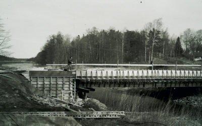 Bygget av nya kanalbron 1997
