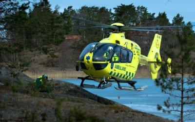 Två ambulanshelikoptrar året runt