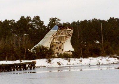 Estonias bogvisir i Älvsnabbshamnen den 10 januari 2002. Foto: Försvarets bildbyra/Håkan Nyström