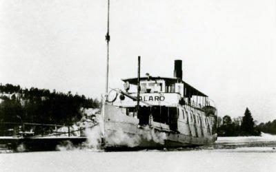 Ett gammalt fotografi – Ångbåten Dalarö