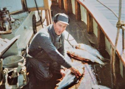 Bertils far Holger fiskade mycket lax. Foto: privat