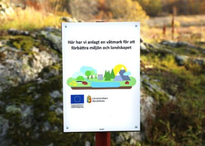 Maren, Arbottna. Restaureringen av sjön finansierades av EU:s landsbygdsprogram. Foto: Johan Bjurer