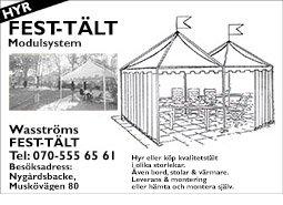 Wasströms Fest-Tält Banner