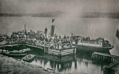 "Ett gammalt fotografi – Hjulångfartyget ""Jakob Bagge"" vid Dalarö brygga 1870"