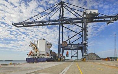Den nya hamnen i Norvik