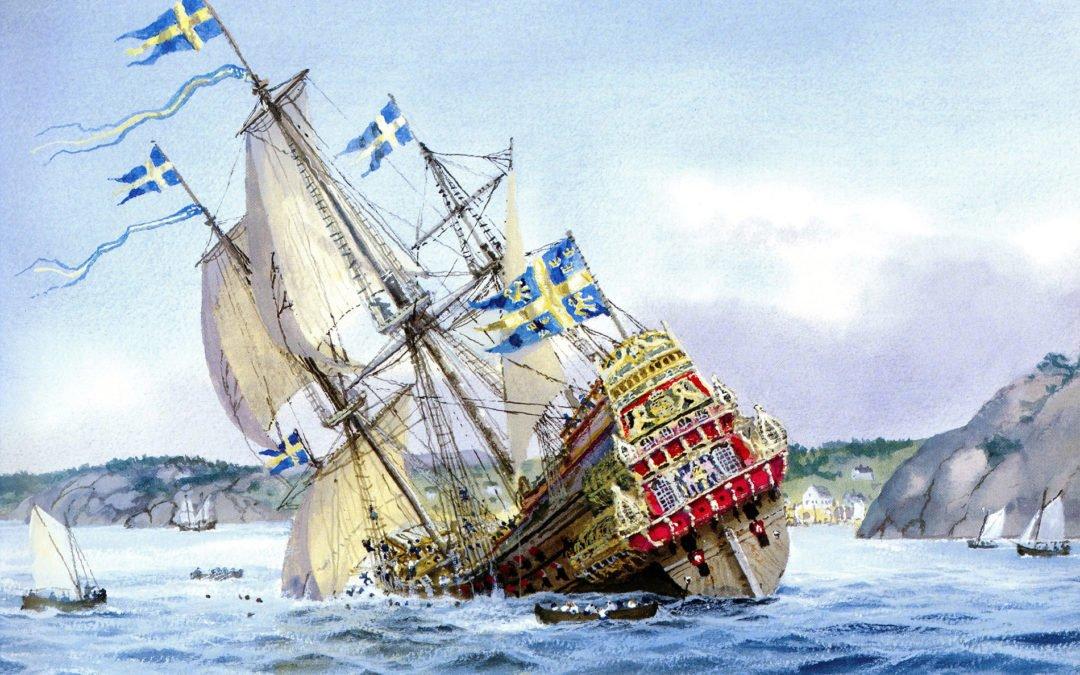Wasa kapsejsar. Oljemålning av Håkan Sjöström.
