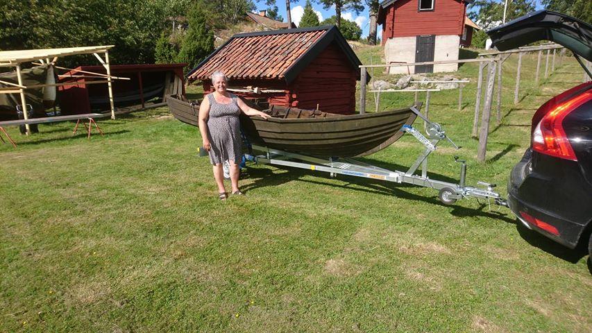 Sture Hellströms båt från mitten på 50-talet. Foto: Bernt Karlsson