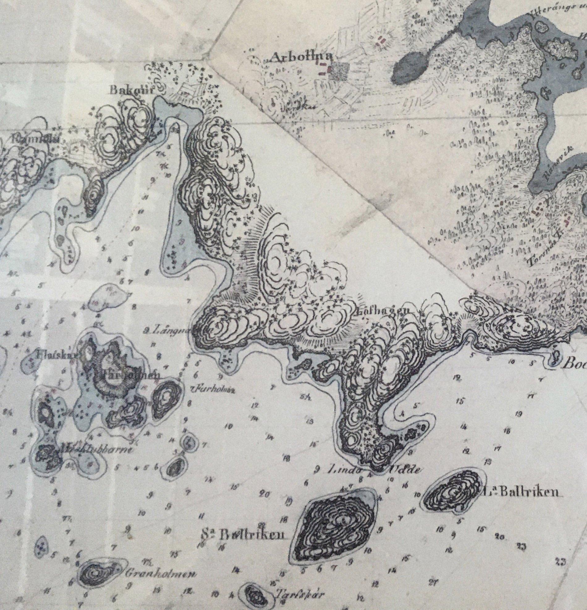 Karta södra Muskö 1806