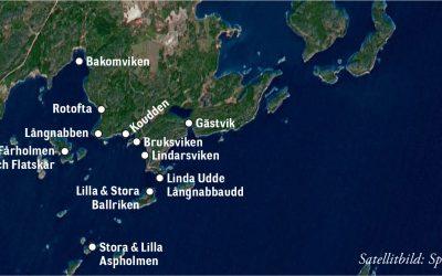 Ortnamn på Muskö: Från Gästvik till Bakom – vikar, uddar och holmar på södra Muskö