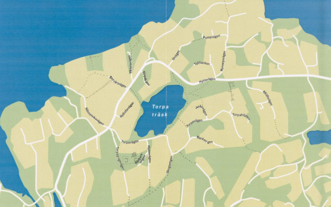 Stigkarta över Torpa skog