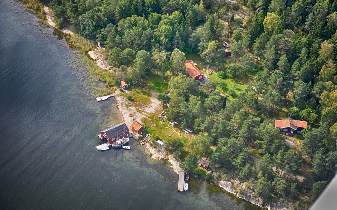 """Walters brygga"" vid Sjövik inne i Ersholmsviken. Foto: Bengt Grönkvist"