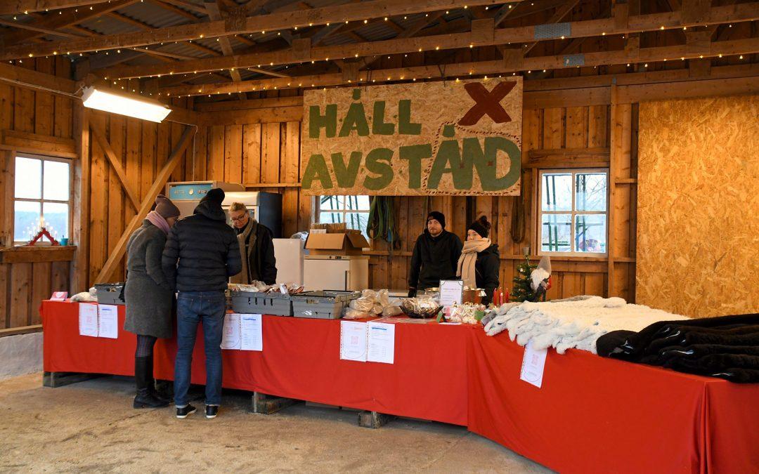 Muskö Gårdsbutik på Björkdals gård sålde lammprodukter, ägg och honung. Foto: Veronika Ersson