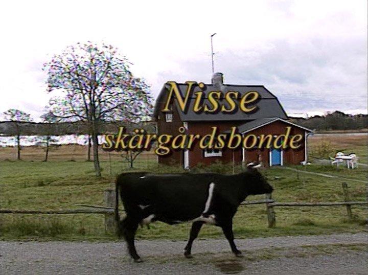 Nisse skärgårdsbonde på Näsängen, Muskö.