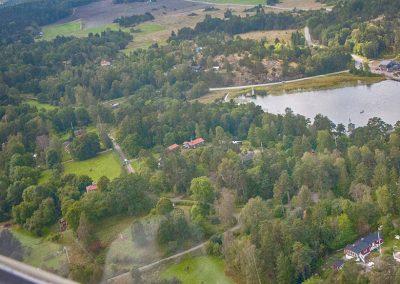Flygfoto över Rumme och Mickrum. Foto: Bengt Grönkvist