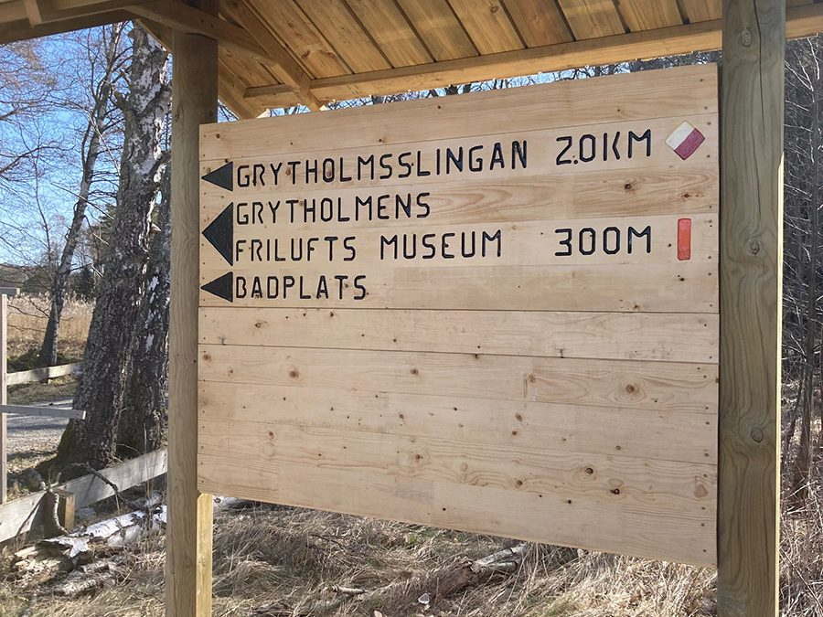 Ny informationsskylt vid Grytholmen. Foto: Veronika Ersson