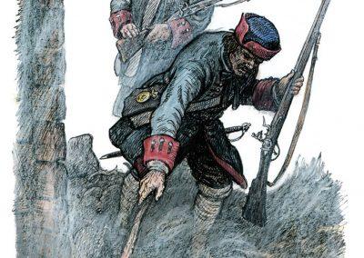 """Bland ryssarna fanns särskilda båtar med folk och utrustning för att tända på och bränna. Teckningar av Göte Göransson från boken """"Rysshärjningarna"""" av Magnus Ullman."""