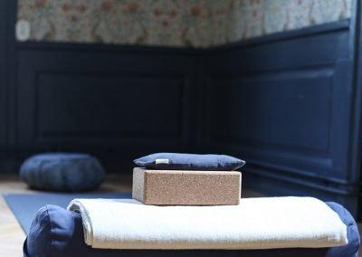 Salen en trappa upp används nu som yogasal. Foto: Linnéa Falk