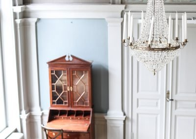 Arbottna ska fortfarande kännas som ett hem. Och de gamla vägg- och takmålningarna är bevarade i ursprungligt skick. Foto: Linnéa Falk