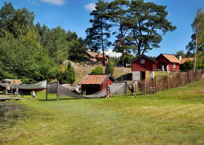 Hembygdsföreningen hade kaffeservering och öppna hus på Grytholmen.