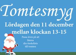 Tomtesmyg - lördag den 11 december vid Muskö IFs klubbstuga.