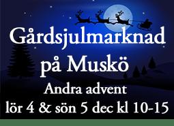 Gårdsjulmarknad på Muskö Andra advent – lör 4 & sön 5 dec kl 10-15